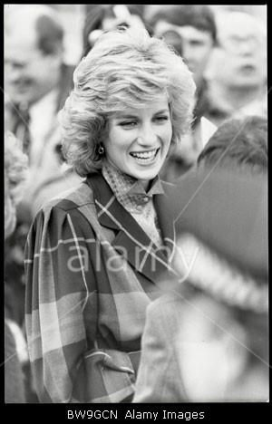February 5 1985 Diana, Patron, Barnardo's, visits their HQ in Tanner's Lane, Ilford in Barkingside, Essex and inspected the After Care Section