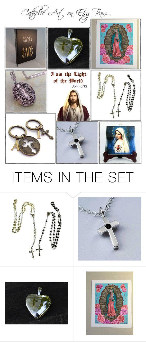 """Religious Art on Etsy by TerryTiles2014 - Volume 232"" by terrytiles2014 on Polyvore featuring arte, etsy, art, catholic e religious"