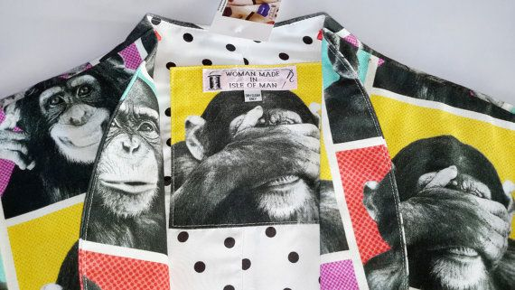 Check out this item in my Etsy shop https://www.etsy.com/uk/listing/452944646/m-cotton-monkey-business-bolero-jacket