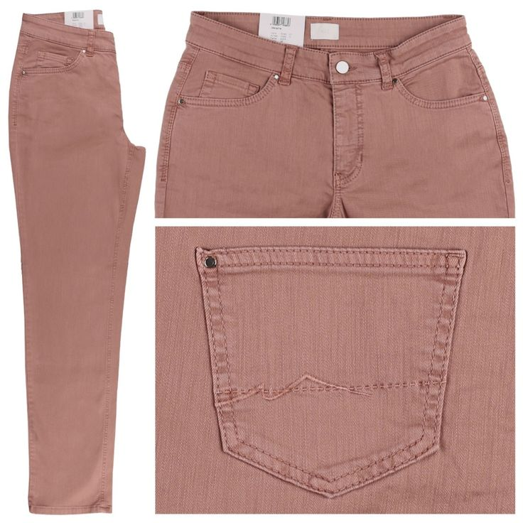 #Damen MAC Melanie Jeans dark salmon, 04059347143853