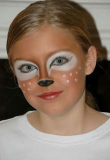 Reindeer face paint fir the Christmas show