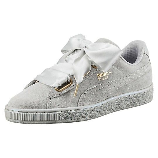 PUMA Women's Shoes - Femme Puma Suede Heart Satin Sneakers Gris Violet 362714-02 - Find deals and best selling products for PUMA Shoes for Women