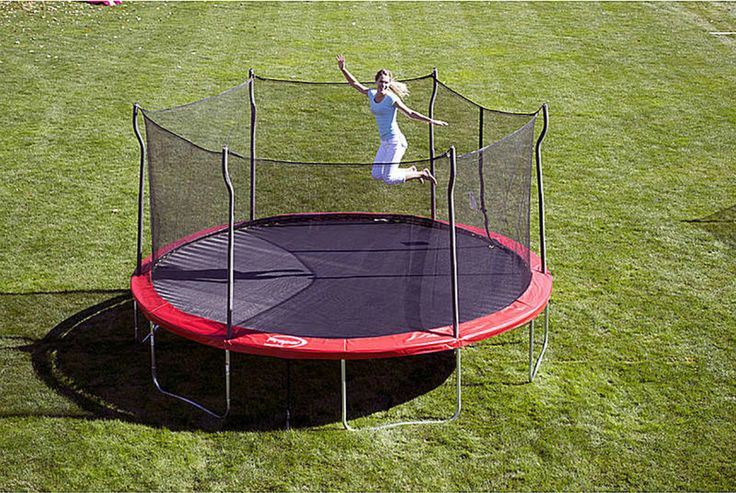 The Propel Trampolines 15' Enclosed Trampoline with Anchor Kit lets children burn calories while improving balance, coordination and motor skills.
