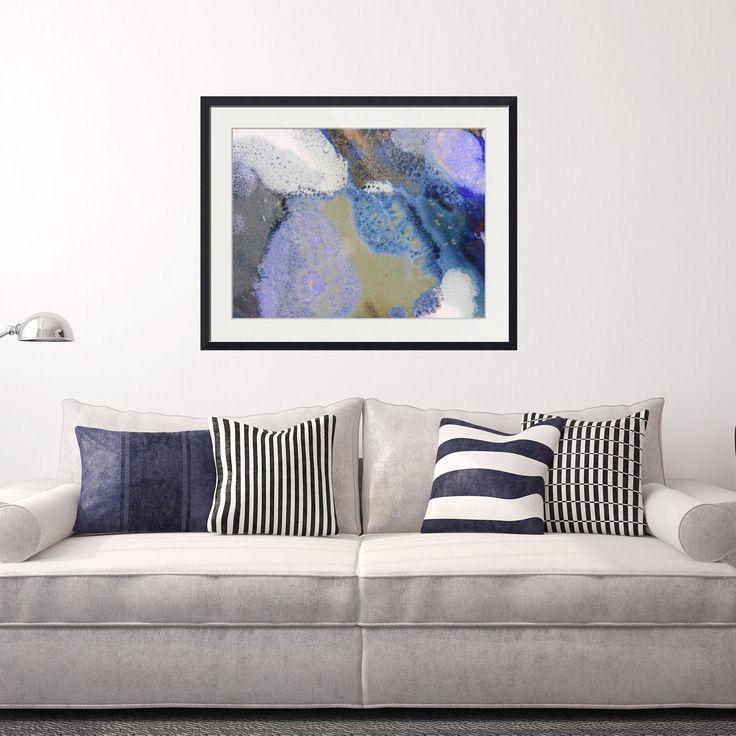 Abstract Framed Wall Art Rectangle 41