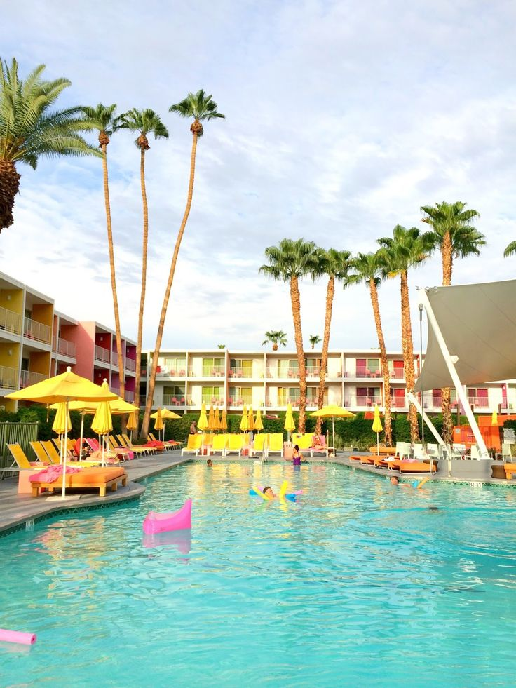 A Colorful Boutique Hotel In Palm Springs California Located Coachella Valley Amongst Beautiful Mountains