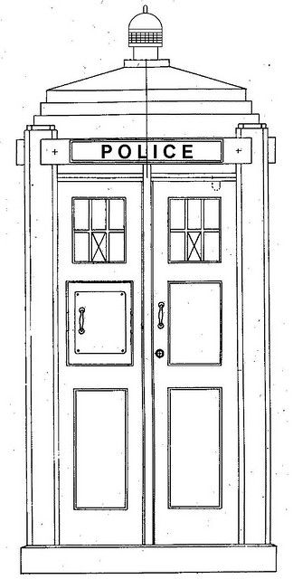tardis printable coloring pages - police box blueprints now we can make our own tardis
