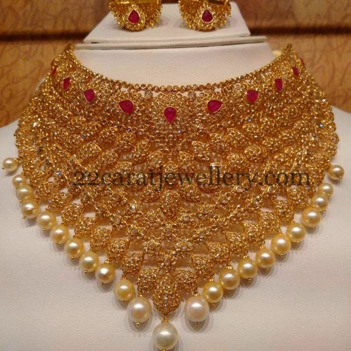 Jewellery Designs: Tremendous Uncut Bridal Choker