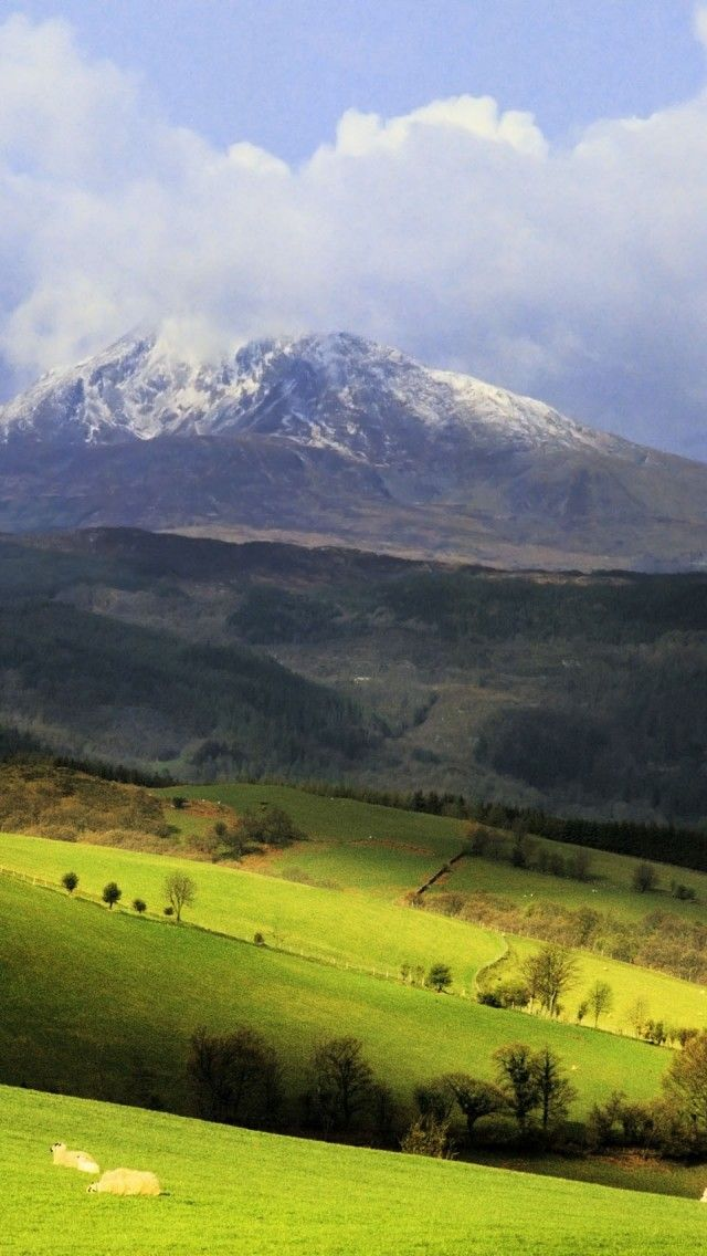 """Mount Snowdon, Wales, UK. Snowdon is the highest mountain in Wales, at an elevation of 1,085 metres above sea level, and the highest point in the British Isles outside the Scottish Highlands. It is located in Snowdonia National Park in Gwynedd, and has been described as """"probably the busiest mountain in Britain""""."""