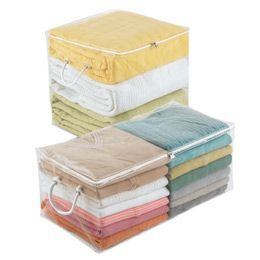 The Container Store > Clear PEVA Storage Chests for linen closets ... Sheets blankets pillows...also for hall storage leading to pool for beach towels