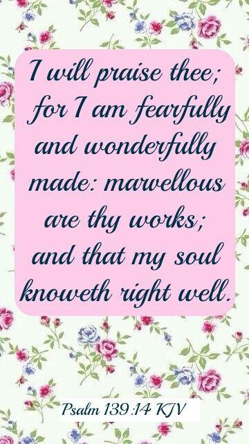 Psalm 139:14 KJV