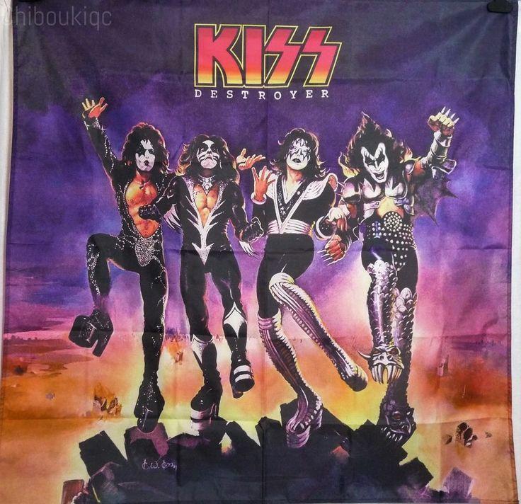 KISS Destroyer HUGE 4X4 BANNER poster tapestry cd album cover art | eBay