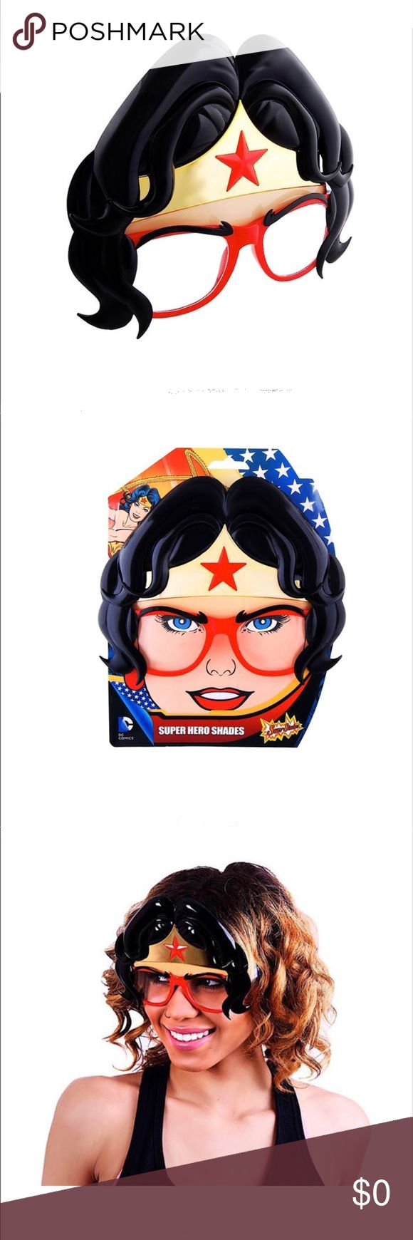 Wonder Woman❤️ Sun-Staches!  Brand New! Sun-Staches Wonder Woman Sunglasses!  Brand New!  Perfect for kids and adults -*Brand New!! **100 % protected with UVA 400 Sun-Staches Accessories Sunglasses