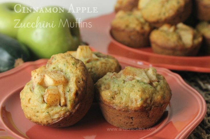 Cinnamon Apple Zucchini Muffins (Jen's note: I put all the apples in the mix, added some shredded coconut, finished with a sprinkle of coarse sugar on top. So good. A recipe to add to the collection)