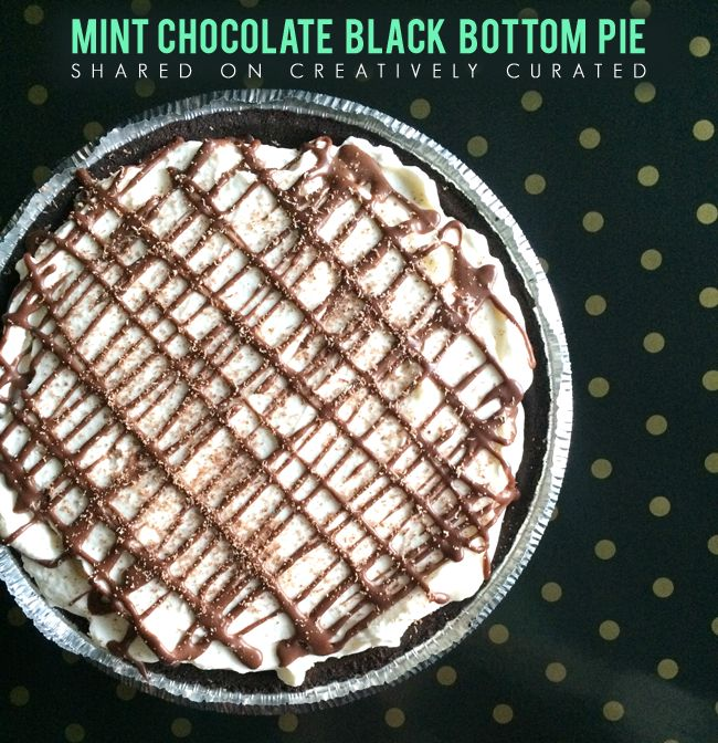 Mint Chocolate Black Bottom Pie Shared on CreativelyCurated.com #pie ...