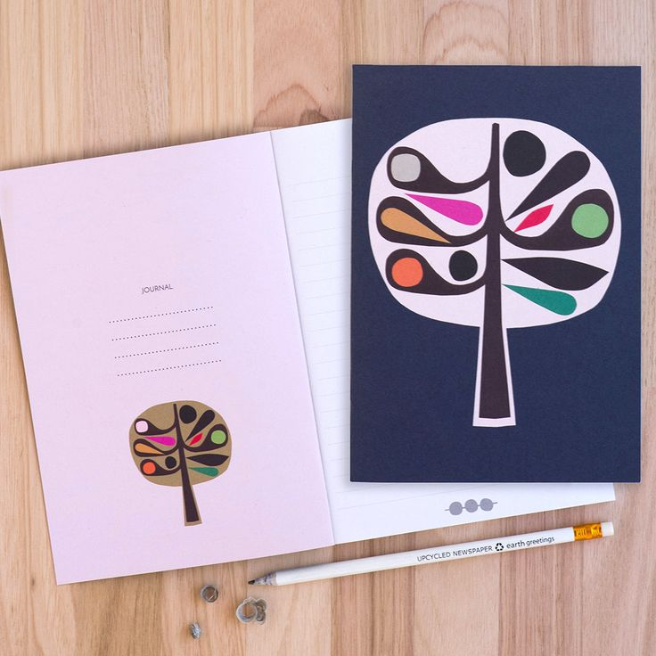Tree Journal. A collaboration between Earth Greetings and Australian artists Inaluxe.