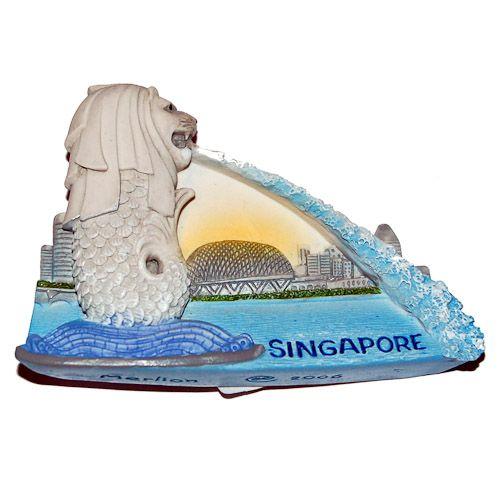 Resin Fridge Magnet: Singapore. Merlion