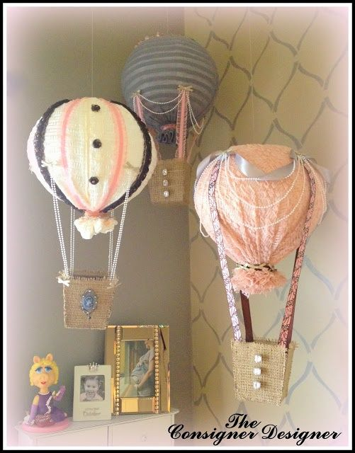 hot air balloon diy crafts | Found on theconsignerdesigner.blogspot.de