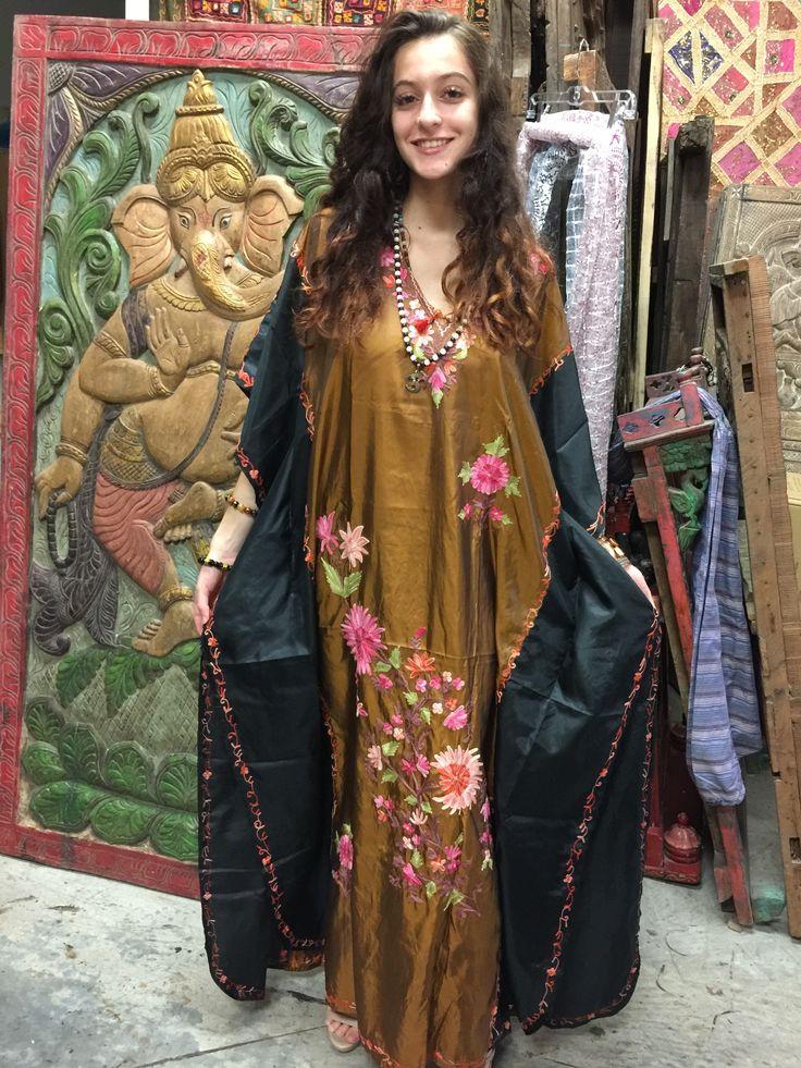 Bohemian summer caftans in vivid floral and batik prints are ideal for yoga retreats and cruises.   Bohemian clothing, boho chic tunics, kaftans and skirts at http://www.mogulinterior.com
