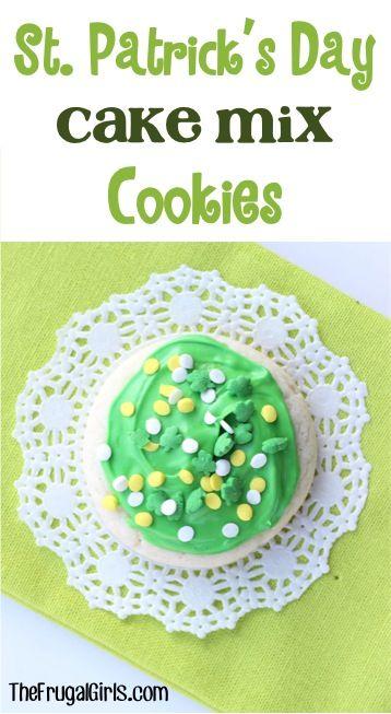 St. Patrick's Day Cake Mix Cookies Recipe!