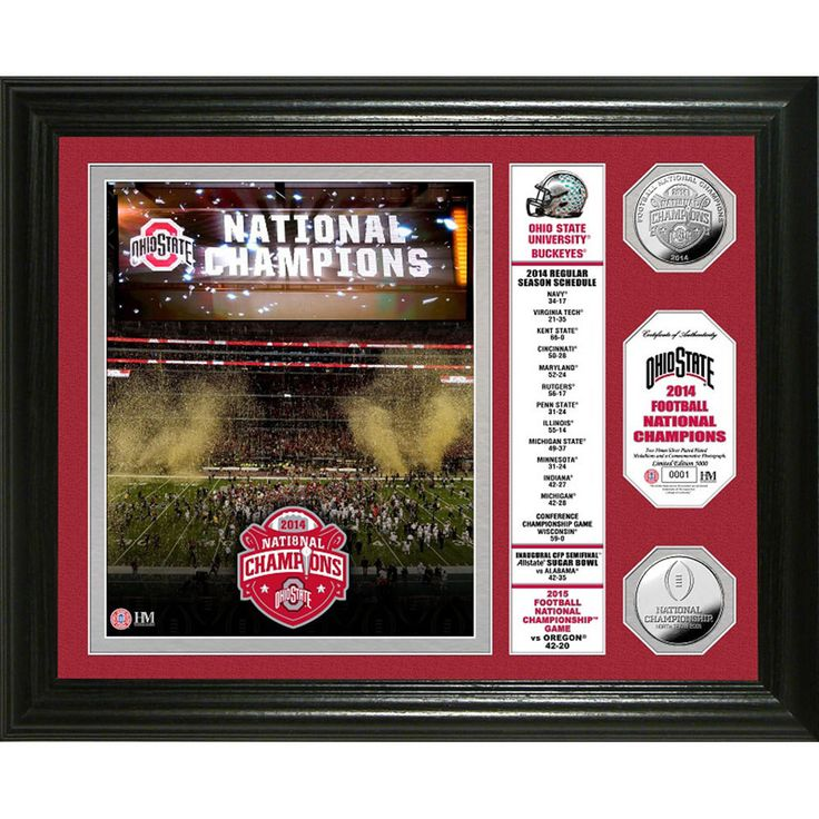 Ohio State 2014 College Football National Champions inBannerin Silver Coin Photo Mint