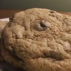Whole-Wheat Chocolate Chip Cookies Recipe  because I have BAGS of whole wheat flour hanging around!