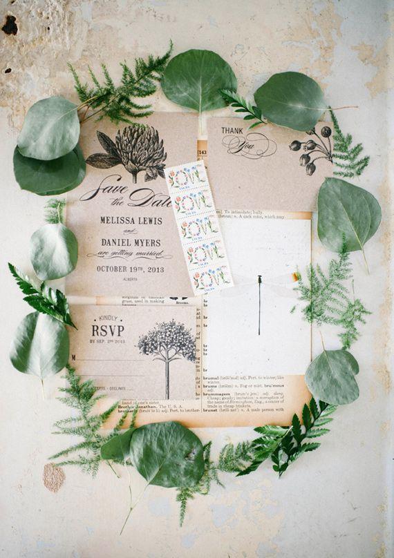Botanical wedding inspiration | photo by Aubrey Renee Photography | http://www.100layercake.com/blog/2013/07/25/botanical-wedding-inspiration/