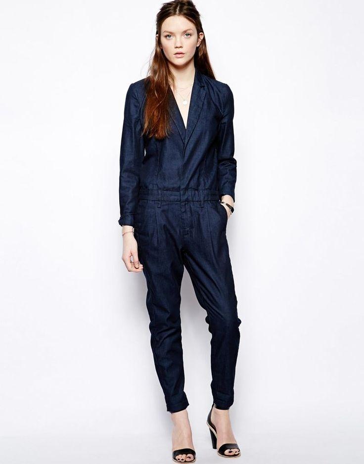 Joe s Jeans Tailored Jumpsuit @ ASOS in Navy Blue S / UK 8-EU 36-US 4 RRP £270
