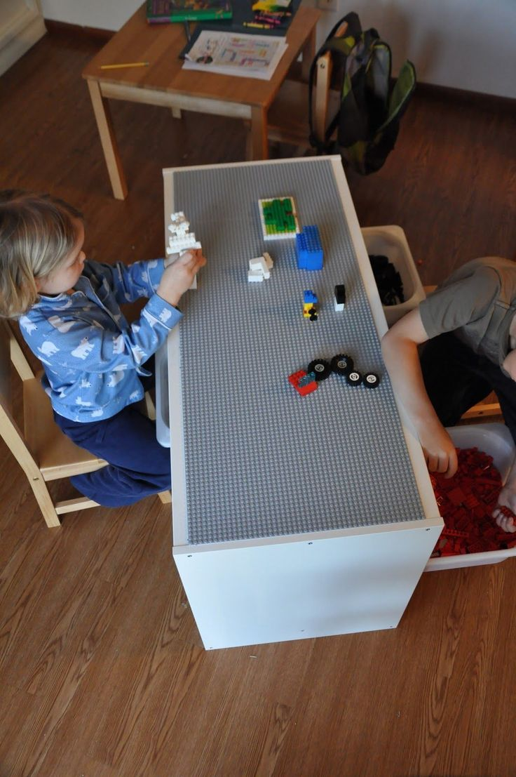 That Crafty Juls: Our new LEGO table! Trofast Hack. Gonna get daddy to do this.