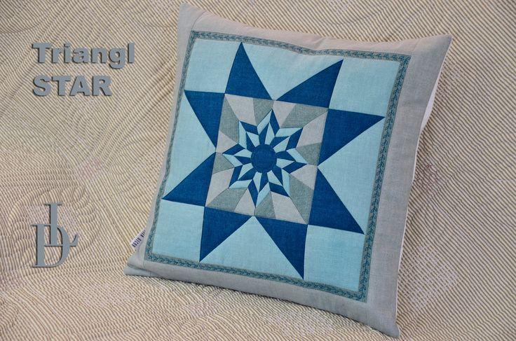Patchwork Triangl Star & Letící Husy