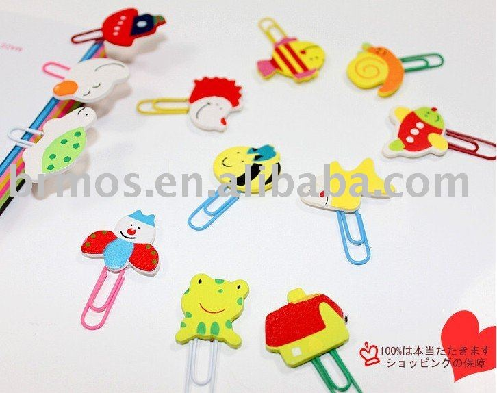 2011 Free shipping !!wooden clip pins bookmark cartoon clip pins on AliExpress.com. $45.26