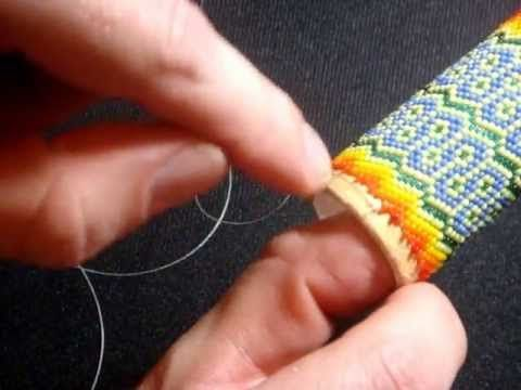 My favorite way of adding new thread. Super easy, hides the knot, allows thread to be added in the middle of the beadwork instead of at the edge!