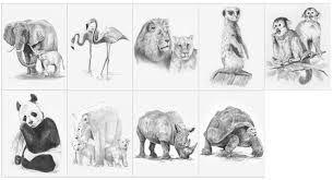 Výsledok vyhľadávania obrázkov pre dopyt kresby ceruzkou zvierata