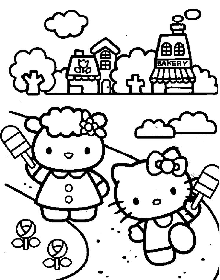 106 best Coloring Pages {Hello Kitty} images on Pinterest Hello - new coloring pages with hello kitty