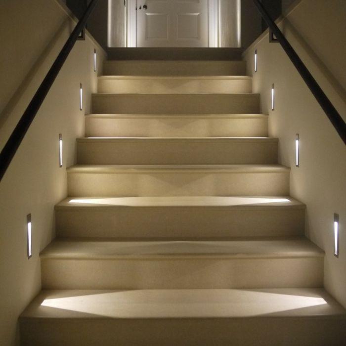 Awesome Beleuchtung Treppenhaus l sst die Treppe unglaublich sch n erscheinen