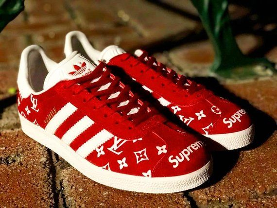 premium selection 00b22 d8c58 Supreme ,louis vuitton, LcCustom Adidas Gazelle,custom sneakers ,custom  shoes ,custom adidas ,custom