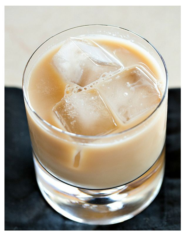 Voodoo - butterscotch schnapps, coconut rum, coffee liqueur and milk! | The Drink Kings | www.thedrinkkings.com