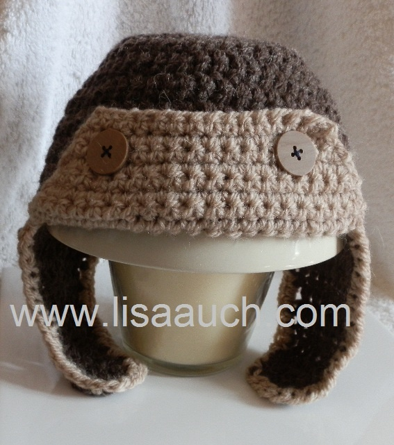 Free baby crochet hat pattern - aviator hat