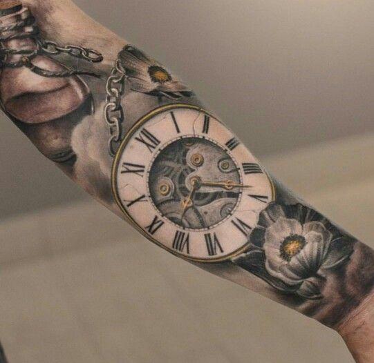 #tattoo #relogio #watch #clock #romano #bolso #hour