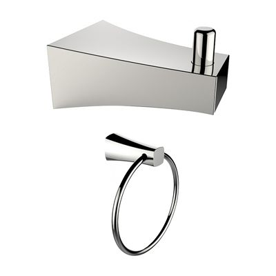 American Imaginations Ai13288 Chrome Plated Towel Ring And Robe Stunning Chrome Bathroom Accessories Review