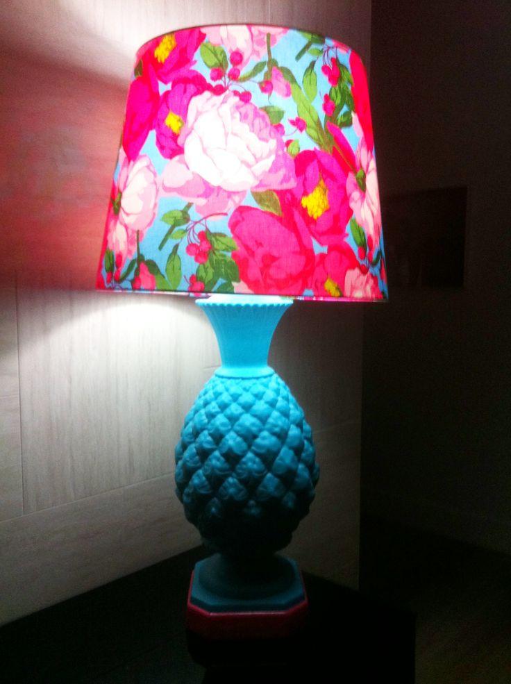 Vintage pineapple lamp revamped by milk & honey Interiors