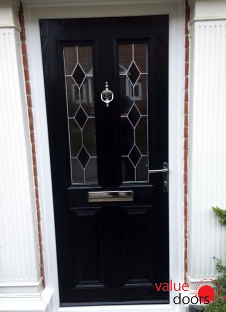 One of our most popular Beautiful Composite Doors is our Cardiff door in black with black & 111 best Black Front Door images on Pinterest