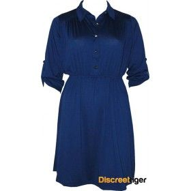 Gorgeous royal blue shirt dress, perfect for that casual bbq or gathering of friends. Has a cinched in waist to accentuate those lovely curves and a 3/4 folded sleeve with a studded button. The pointed collar and shirred back yoke design add that little bit of fancy without being too over the top. Finishes just above the knee depending on your height. Add a pair of wedges and maybe a belt and your set to go.