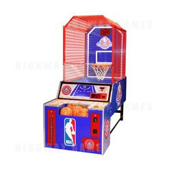 NBA Hoop Troop Arcade Machine is the official licensed NBA basketball shooting game made just for the kids and will stand out in the middle of any location and draw players in from all across the floor.