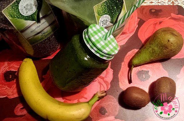 ekoMalwa - Poczuj jak smakuje zdrowie: Zielona bomba witaminowo odchudzająca z młodym jęczmieniem i nasionami chia