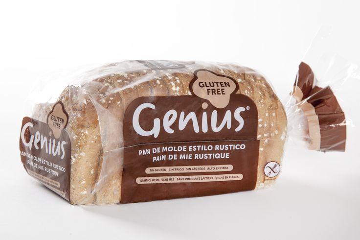 Pan al puro estilo rústico #singluten, sin trigo, sin lácteos y alto en fibra.   ¡Nuevo pan de molde rústico Genius!  #FrescoSinGluten