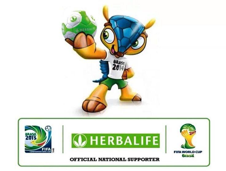 Herbalife patrocinante oficial de la copa del mundo de Fútbol 2014 Brasil. Comprometidos con una nutrición de excelencia