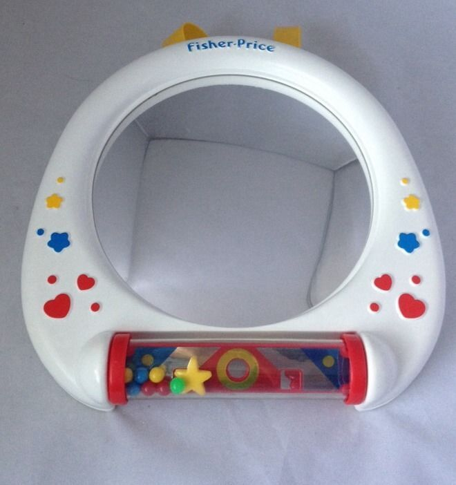 Fisher Price Big View Baby Mirror Crib Toy 1132 Vintage