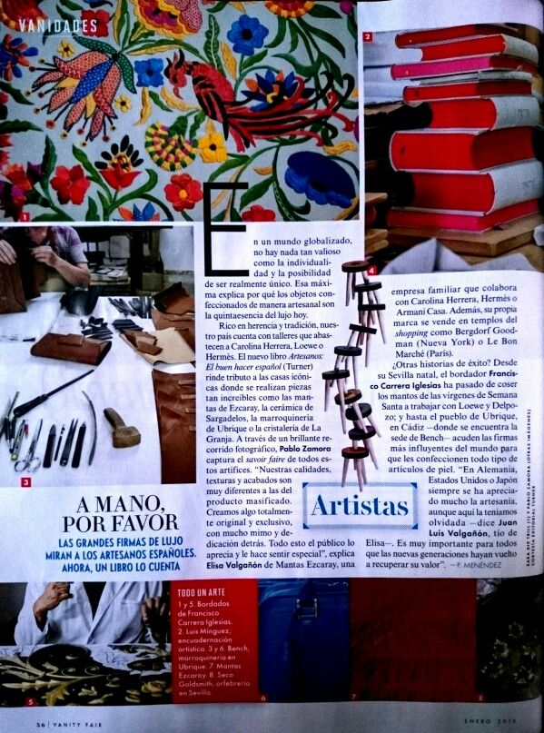 Benchbags in @VanityFair España. January edition - Special #Luxury #magazine #craftsmanship