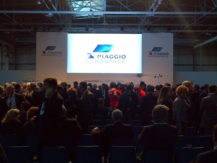 Big opening Piaggio Aerospace in Villanova d'Albenga (Italy)