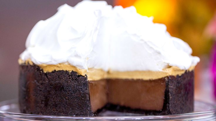 This rich and airy devil's chocolate cream pie is heavenly